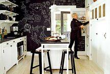Chalkboard wall in Kitchen / by Kara Wolf-Hoodak