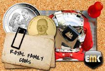 Royal Family coins / Königsfamilie münzen / Royal Family coins / Königsfamilie münzen