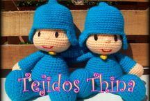 POCOYO AMIGURUMI / Pocoyo amigurumi - crochet- de Tejidos THINA