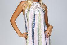 Crochet Neck Halter Dress