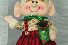 Christmas Elf Elves / Holiday Elves from Primitives by Katy, Glory Haus, Hann's Handiworks, Elf on the Shelf elves and more at www.heartsdesiregifts.biz