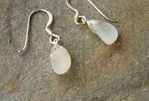 Northumbrian Sea Glass & Sea Pottery Jewellery / Jewellery handmade in sea glass and sea pottery collected by hand in the Northumbria region, North East England.