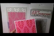 heat embossing  with stencils and dry ebossing  with stencils
