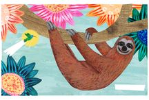 For the Love of Sloth! / How can you not love sloths? They certainly bring a smile to our face. Check out the winsome ways Flickr members have depicted sloths in illustration and otherwise.