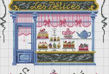 Cross stitch-kitchen