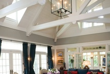 Lake house ceilings and beams / by Mindy Dawes