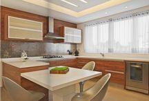 Cozinhas com bancadas brancas! Qual pedra usar? / Veja + Inspirações e Dicas de decoração no blog!  www.construindominhacasaclean.com