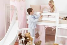 Fairytale Flower Children Beds / A Beautiful Universe for Your Childrens Bedroom. Children Furniture e.g. with Bunk bed, Mid high bed, Half high bed, High bed, Conopy bed and Sofabed made in the Highest Quality from Hoppekids.