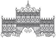 wzory bramy,okna,klatki