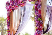 Altar and Aisle Decor / Wedding altar ideas unique backdrops arches outdoor ceremony