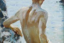 Henry tuke scott / painting
