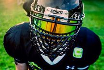 SHOC Inserts American Football Helmets / Pictures of Customer Helmets With our Visors in Various American Football Helmets