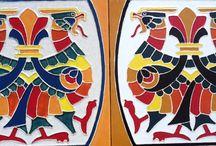russian handmade tiles / handmade tiles from Russia. www.plakart.ru