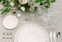 WEDDING TABLE DESIGN / Curated images to inspire wedding table design. Images include collected vision for beautiful table scape design.
