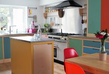Colour by Numbers Kitchen / Every now and then we are asked to design something really different, these are the projects that really excite our designers. Ben and Clizia approached us in early 2015 to design a kitchen which would fill their lives with bright joyful colour whilst showcasing the beauty of the raw materials, the result is a beautifully simple kitchen which has the bewildering power to brighten your mood.