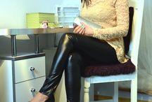 Jak i z czym nosić skórzane legginsy - stylizacje