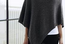 Moda : poncho / Poncho  grigio in cashemer