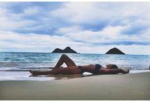 fotos na praia sozinha