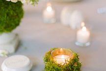 dekoracje ze świeczkami