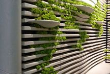 G R E E N / Indoor vertical garden, Drop ceiling gardens, horizontal, diagonal, floating.. anything that pops and says green to you. It's here