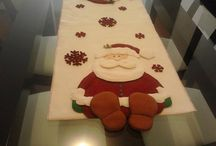 Tutorial e idea for Christmas tablerunner/ Caminos de mesa de Navidad Tutoriales e ideas
