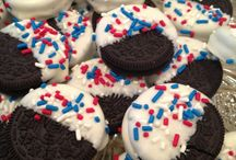 All things red, white and blue / true to the red, white and blue... American celebrations