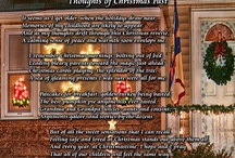 "Christmas / Christmas is a magical time of the year. It is a time of love, joy and family. ""Thoughts of Christmas Past"" is a nostalgic journey to the Christmases of our childhood, and our hope for Christmases yet to come. / by PoetryPrints.com"