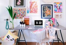 Home office/ Work desk / Inspiration for setting up a lovely work space you will want to sit at :)