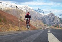 Cycling in our backyard, the French Alpes / Road cycling at Alpe d'Huez. Great cols to discover like col du Glandon, Croix de Fer, Galibier and Lautaret. Love to be in the mountains.