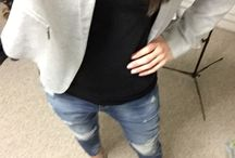 Spring outfit 2015 / Boyfriend jeans & grey jacket