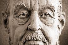 clay head sculpture