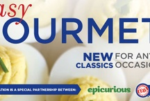 Eggland's Best FIRST eCookbook - Easy Gourmet.  Get it FREE on Facebook! / Download your copy of Easy Gourmet: New Classics for Any Occasion today! This eCookbook, a $9.99 value, is FREE for EB Facebook fans, courtesy of Eggland's Best & Epicurious. / by Eggland's Best