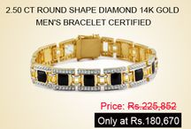 Men's Diamond Bracelets / Men's Diamond Bracelets – An ideal Piece for Men's Style!!