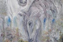 modern paintings horses and
