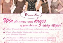 My favourite vintage style dresses from the wardrobe shop.com#wardrobeshop / #wardrobeshop