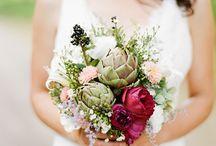 Random wedding bouquets