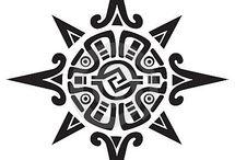 Tatuajes del sol maya