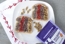 Superfood TOAST / Toast is all the rage these days, so why not spruce it up with a boost of antioxidants, protein, fiber, and all the powerful nutrients in your favorite superfoods!?