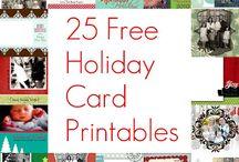 Christmas Cards/Printables/Advents / Printed Christmas/Advents