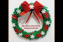 Natal E.V.A / Natal em artesanato EVA