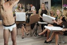 """""""Package Delivery"""" : A Girls' Night with the Real Housewives of Vancouver / A Drawn to Men Art Party is the perfect girls' night activity.  Just like The Real Housewives.  Hire a caterer and we will bring the bubbly and hot men. #drawntomen #realhousewivesofvancouver #artparty"""