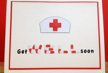 "Mes cartes ""Prompt rétablissement""/ My cards ""Get well soon"""