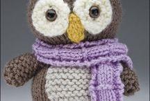 Hibou tricoté