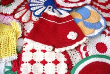 Vintage Crochet Potholders / Who doesn't adore handmade crochet  potholders. Be sure to visit my blog at http://cdiannezweig.blogspot.com/