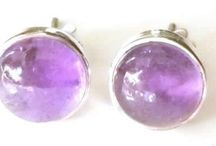 Amethyst Earrings / Sterling silver and amethyst earrings in all shapes and styles.