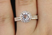 Rose Gold / Engagement and Wedding Rings