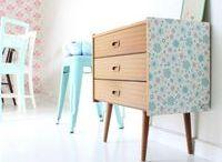 Mettre du papier peint sur les meubles