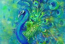 Art - Birds - Peacocks