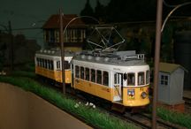 Zelfgebouwde trams in spoor G schaal 1/22,5; Selfbuilt streetcar G scale; Selfbuilt tram G scale / Uit hout gebouwde trams van Occre en merkloze trams.