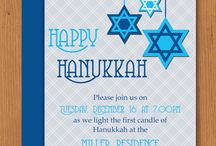 Hanukkah Party Invitations and More / Microsoft Word Hanukkah invitation templates and more